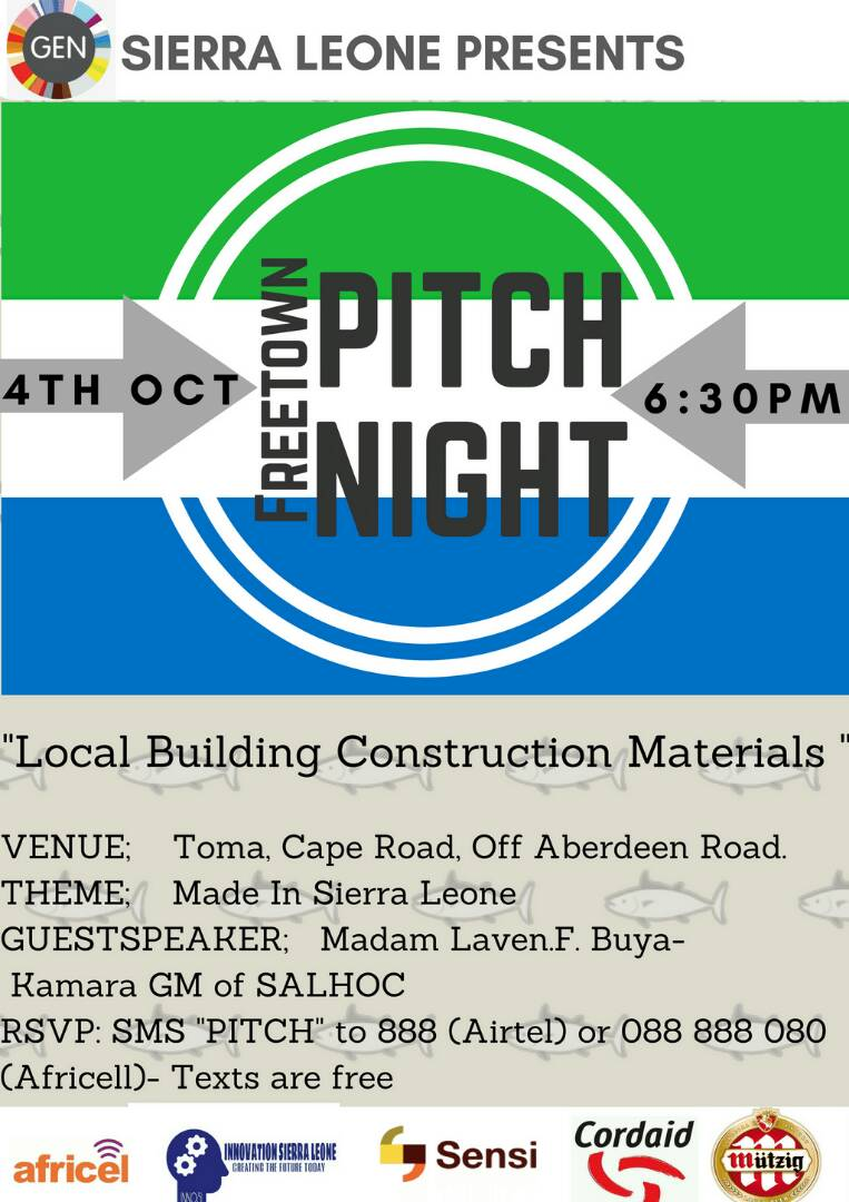 Report: Freetown Pitch Night- October 4th 2017
