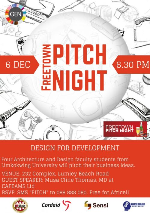 Report: Freetown Pitch Night- December 6th 2017 Venue: 232, Lumley Beach.