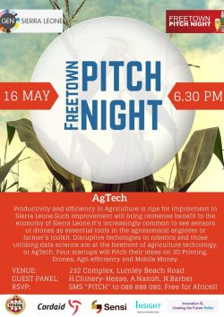 Agtech:Freetown Pitch Night, May 16th, Venue, 232 Complex, Lumly Beach